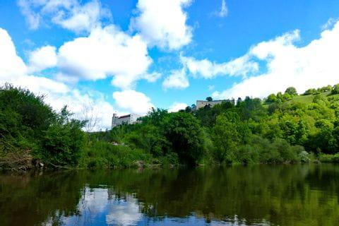 Hiking trail through wonderful landscape