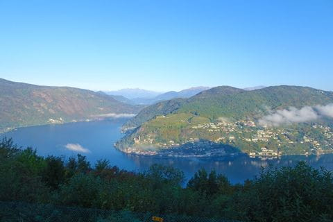View over Serpiano in Tessin