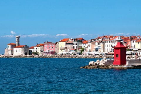 Coastal town on the hiking trail in Istria