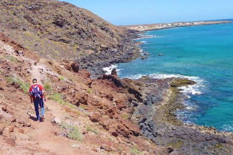 Coast of La Graciosa on Lanzarote