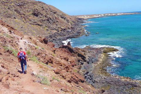 Coast of La Graciosa on Lanzarote