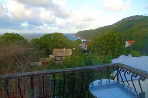 Panoramablick vom Hotelbalkon am Österlenleden