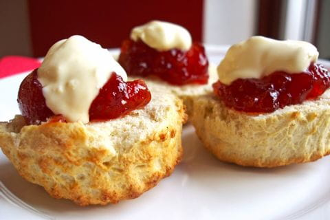 Typical afternoon tea in Ireland with scones
