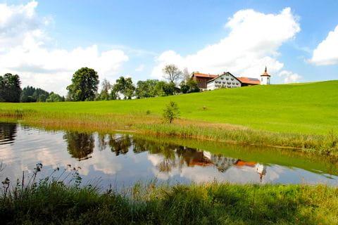 Traumhafte Landschaft beim Wandern in Bayern