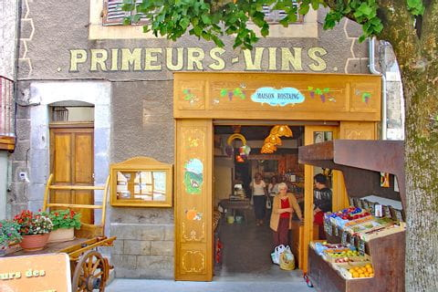 Traditional shops along the walking way