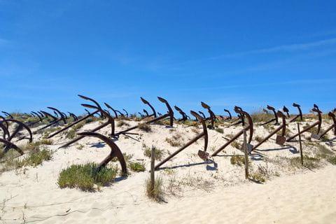 Friedhof der Anker an der Algarve