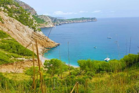 Küstenblick auf der Halbinsel Alcudia