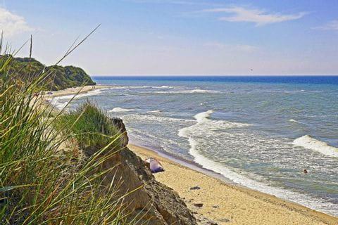 Strandblick am Wanderweg auf Rügen