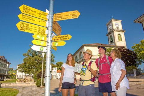 Wanderwegweiser in der Ostschweiz