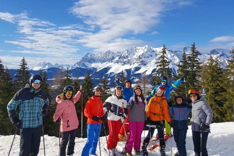 Eurofun-Team auf der Skipiste