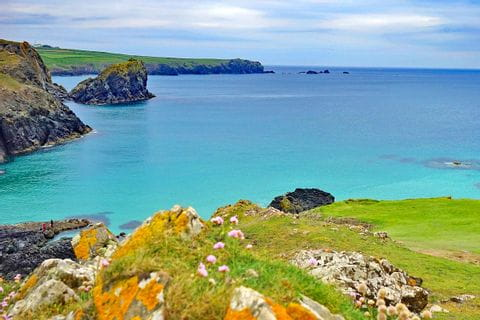 Hiking tour Cornwall with amazing view