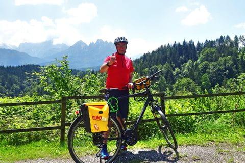 Jörg Thamer am Alpe-Adria-Radweg