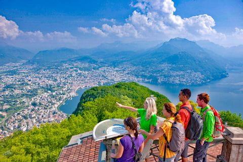 View from San Salvatore to Lake Lugano