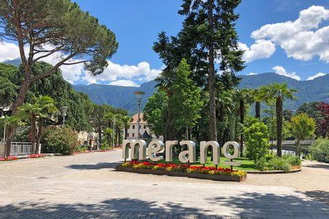 Italienische Stadt Meran