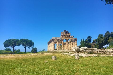 The ruin of the Greek temple Paestum