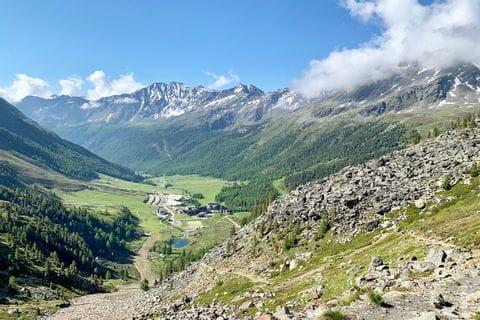Bergpanorama im Schnalstal