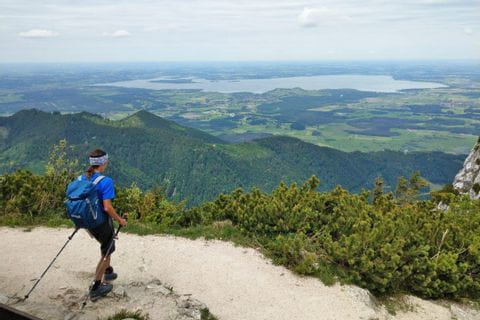 Hiking view at the Lake Chiemsee