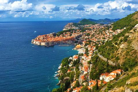 Ort an der kroatischen Küste