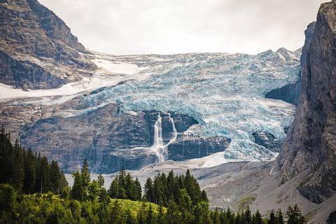 Blick auf einen imposanten Gletscher