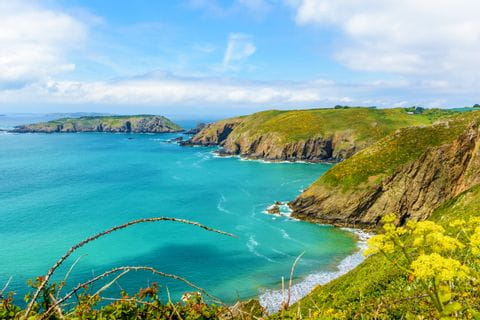 Fantastic coast views while walking on the Channel Islands