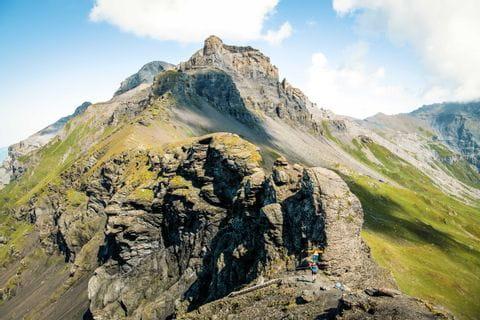 Wandern am Schweizer Bergübergang Hohtürli