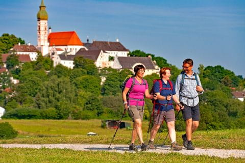 Hiker at the Andechs Monastery