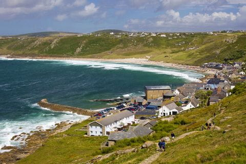 View of the picturesque Sennen Bay