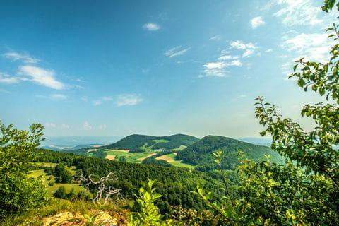 Panorama at the hills of Jura