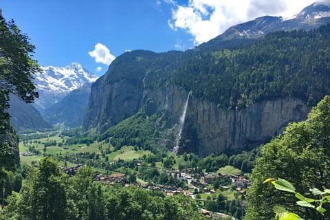 Impressive mountain landscape in Lauterbrunnen