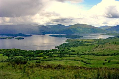 Panoramic view at the hiking trail of West Highland Way