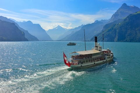 Boat trip at the beautiful Lake Lucerne