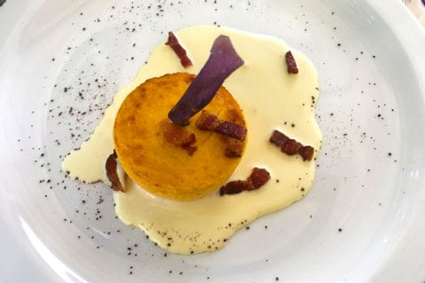 Typical dish with polenta