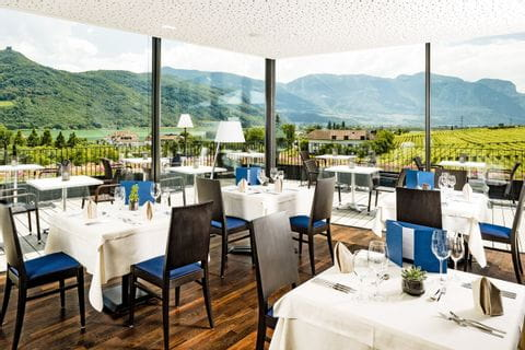 Restaurant at Hotel Thalhof in Kaltern