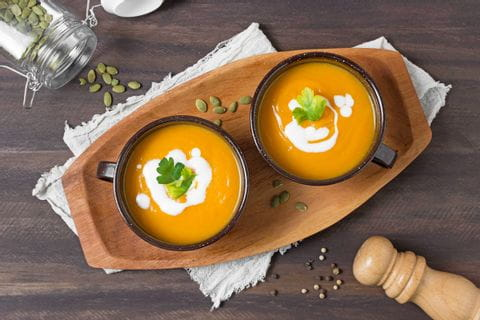 Recipe for pumpkin soup with hokkaido pumpkin