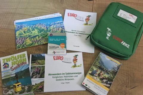 Eurohike Reiseunterlagen
