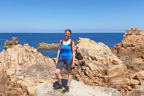 Bretagne Wanderer Küste