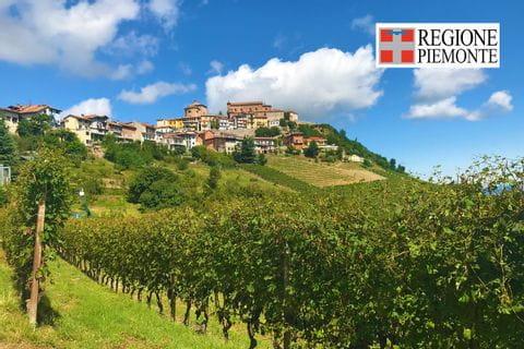 Panorama beim Wandern im Piemont
