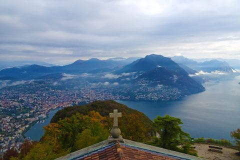 Hiking at the Lugano Monte san Salvatore