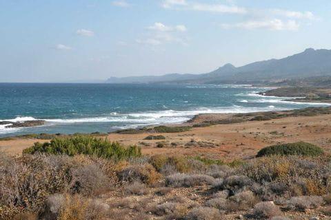 Rushing sea in Cyprus