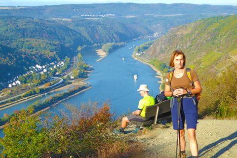 Blick auf den Rhein am Rheinsteig