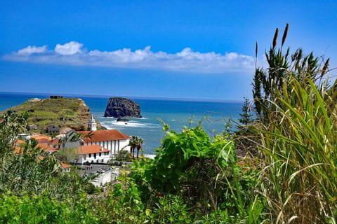 Unspoilt nature trails along Madeiras coastline at Porto da Cruz