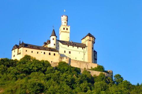 Castle Marksburg Braubach on the Rheinsteig