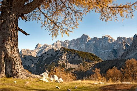 Panoramic views in the Julian Alps
