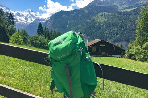 Eurohike hiking backpack with drinking bottle