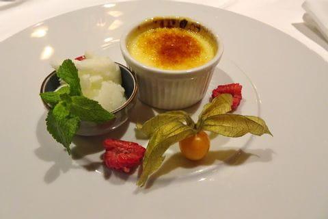 Dessert beim Abendessen in der Wachau