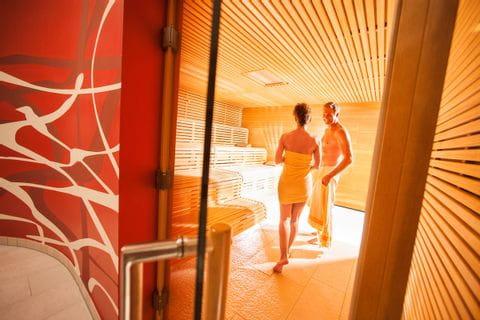 Sauna Bereich Villa Seilern