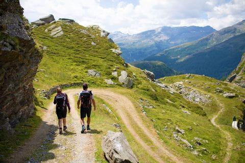 Wanderweg auf der Via Spluga