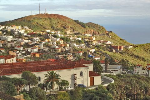 Beautiful hiking view to the capital of El Hierro - Valverde
