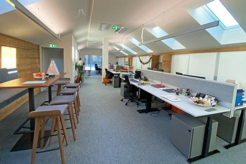 Our Eurohike office with a lot of natural light