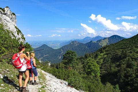 Stunning view to the Chiemgauer Alps